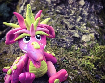Polymer Clay Dragon 'Pinkie' - Limited Edition Collectible