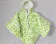 Car Seat Poncho 4 Kozy Kids (TM)-pockets, double sided, reversible, opt to add detachable hood & inside batting, safe, warm-green and white