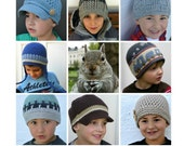 Boys Crochet Hat Patterns - Multi Purchase Discount Coupon Codes - Baby, Toddler, Kids, Boys, Mens Patterns - Make your own pack