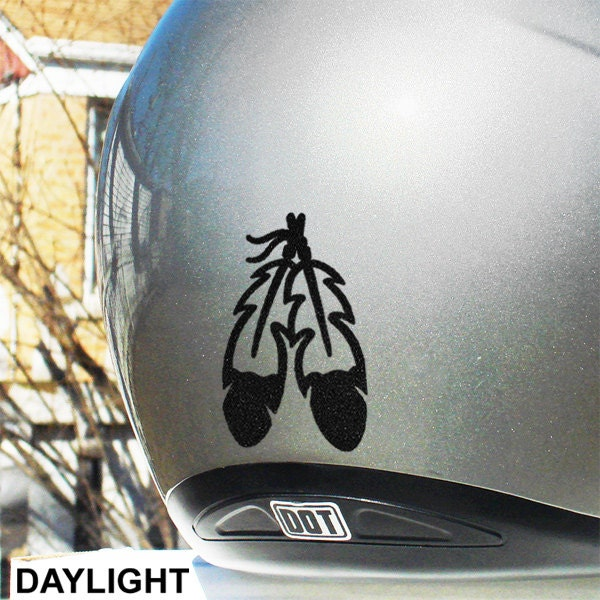 Eagle Feathers Reflective Decal Two Feathers Helmet Sticker - Motorcycle helmet decals stickers