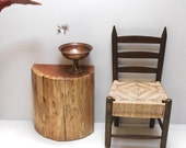 Stump Table Half Round Console Display