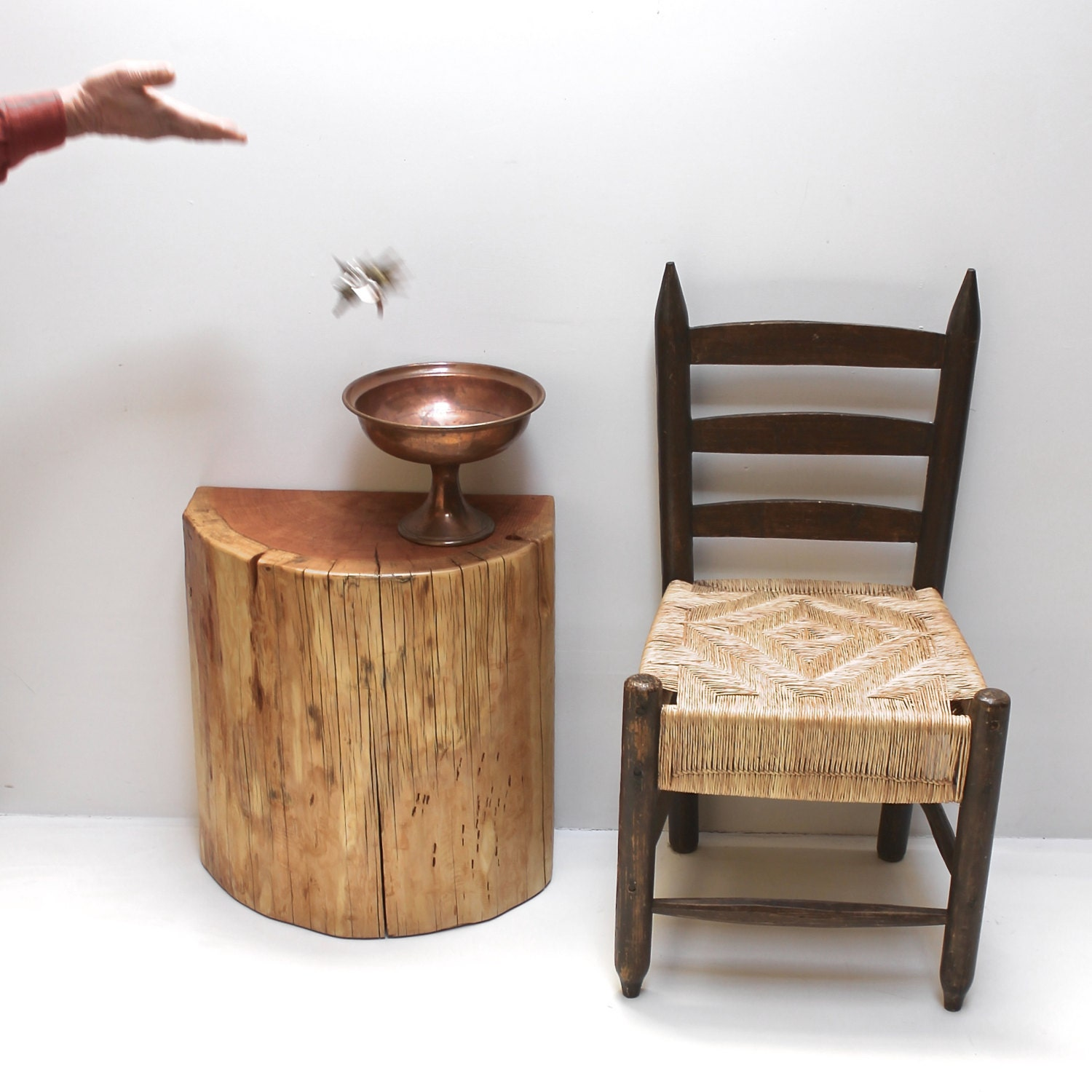 Stump Table Half Round Console Display By Realwoodworks1