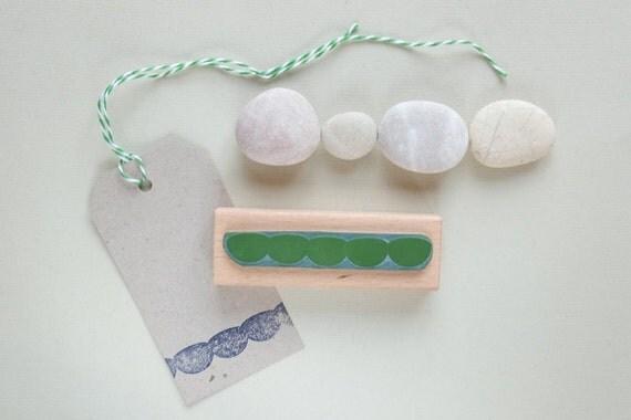 Rubber Stamp: Cloud border