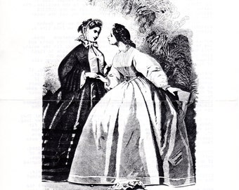Civil War Era Tucked Blouse Pattern - Patterns of the Era of the Hoop for Historical Costuming - Size 12 to14