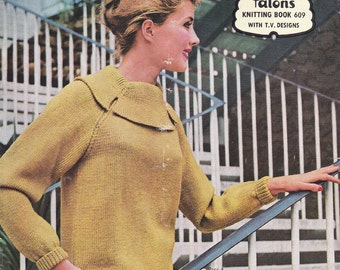 60s Vintage Knitting patterns Booklet Mod styles Patons 609 from Australia ORIGINALS NOT PDF