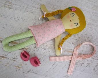 Olivia, handmade doll,  cloth doll,  rag doll,  birthday gift, doll