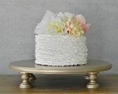 """18"""" Cake Stand Wedding Champagne Round Cupcake Grooms Cake Topper Event Decor By E. Isabella Designs. As Featured In Martha Stewart Weddings"""