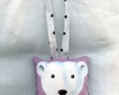 Jack the Polar Bear Hand Painted Ornament