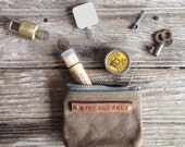 The Peewee Pouch: Truffle by Peg and Awl