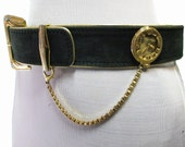 Vintage Escada belt with pocket watch, W. Germany