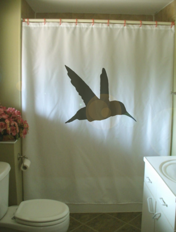 hummingbird shower curtain small bird hover wing flap fast hum nectar ...