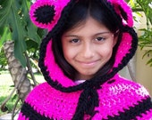 Bear Hat Crochet Knit Bear HOODIE Cape Bear Scarf Cowl Baby Hat Bear Fashion Children Kids Unisex The Perfect Gift Handmade BEAR by BABYARNS