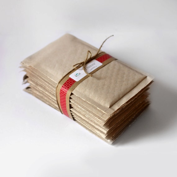 Brown Kraft Bubble Mailers- 6.5 x 9 in-  Set of 300- Perfect size for DVD's & Cd's