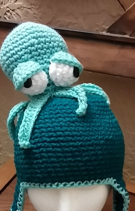 Crochet Octopus Hat : Crochet Octopus Hat by NoGrannyCaps on Etsy