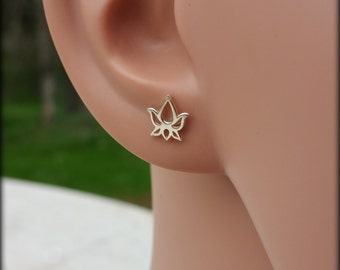 Lotus sterling silver earring posts