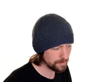 READY TO SHIP.  A Bloke's Beanie (Dark Blue) Mens Hat  Mens Beanie  Man's Beanie  Man's Hat Toque