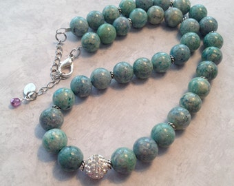 Green Riverstone Necklace