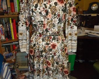 Vintage 1970's Autumn Floral Dress