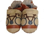 Le Tour (baby shoes in all-leather, sand, brown and grey)