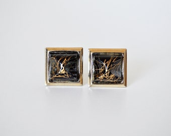 Vintage Atomic Cufflinks and Tie Bar Set