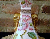 REDUCED -Two (2) Christopher Dresser Old Hall Japanese Aesthetic Style Elephant Head Pottery Vase 1884 - 1886