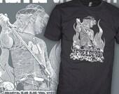 Lynyrd Skynyrd Shirt - Ronnie Van Zant - Freebird Rock T-Shirt - FREE SHIPPING
