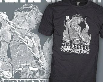 Lynyrd Skynyrd Shirt - Ronnie Van Zant - Freebird Rock T-Shirt