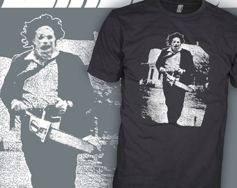 Texas Chainsaw Massacre T-Shirt - Leatherface Horror Movie Shirt - Tobe Hooper v1