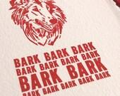 Barkles, America's Favorite Dog by Portland Comic Artists PIZZA GUN - Silly Letterpress Card - Bark Bark Bark!