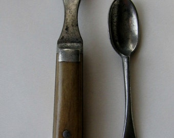 Civil War Era Baby Fork and Spoon