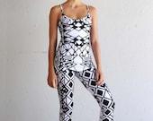 Black and White Tank - Organic Cotton Top - Yoga Top - Black and White Tank Top - Yoga Clothing