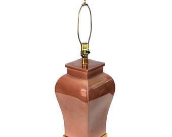 Mid-Century Italian Pottery Lamp Paul Hanson Asian Style