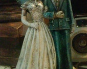 Day of the dead wedding cake topper dia de los muertos bride and groom