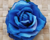 Pin up blue rose hair flower vintage rockabilly style very detailed top quality 40s 50s wedding bride