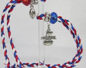 SALE! 2 New England Patriots Wine Glass Charms Patriots Fan NFL Super Bowl