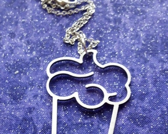Cupcake - Necklace Pendant or Keychain