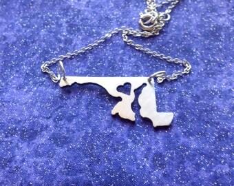 I Heart Maryland - Necklace Pendant or Keychain