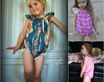 Flutterby PLAYSUIT - nb-4yrs -  PDF Pattern - By LittleKiwisCloset