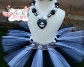 JACK SKELLINGTON inspired- Black and White baby/child Tutu Set:  Newborn-5T