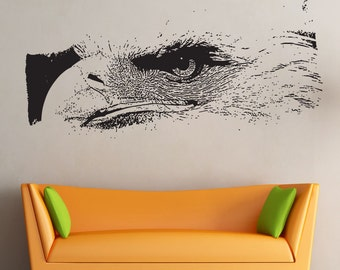Vinyl Wall Decal Sticker Eagle Stare 5518s