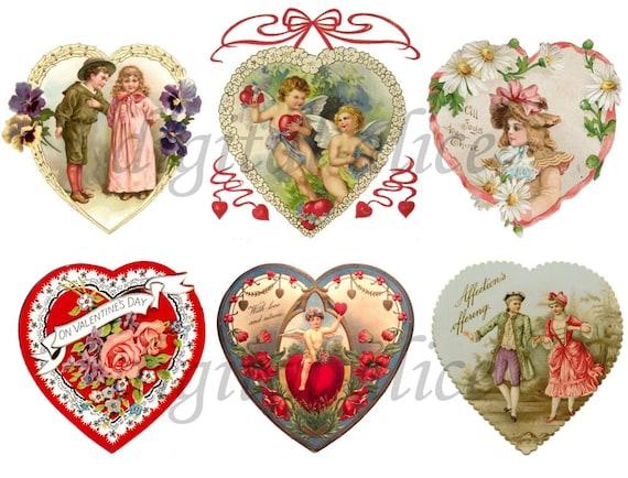 Victorian Valentine Hearts