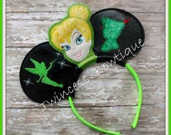 Tinkerbell Fairy Mouse Ears Headband - CUSTOM - Twincess Bowtique