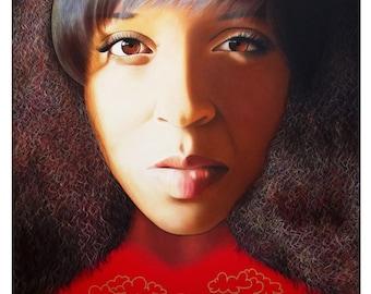 True Beauty - Delena Providence - ART PRINT - 8 x 10 - By Toronto Portrait Artist Malinda Prudhomme
