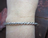 Sterling Silver Double Twisted Bangle Bracelet  925