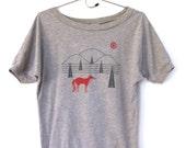 SALE - Women Fox Hills on Heather Gray Dolman Sleeve TShirt