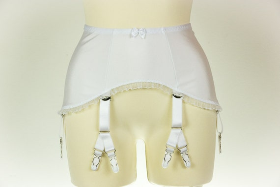 items similar to white high waist retro style garter belt