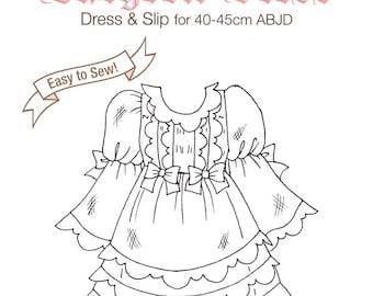 DCP01 - MSD size Babydoll Dress pattern Digital Download