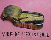 Vide de L'Existence, Original Oil Painting