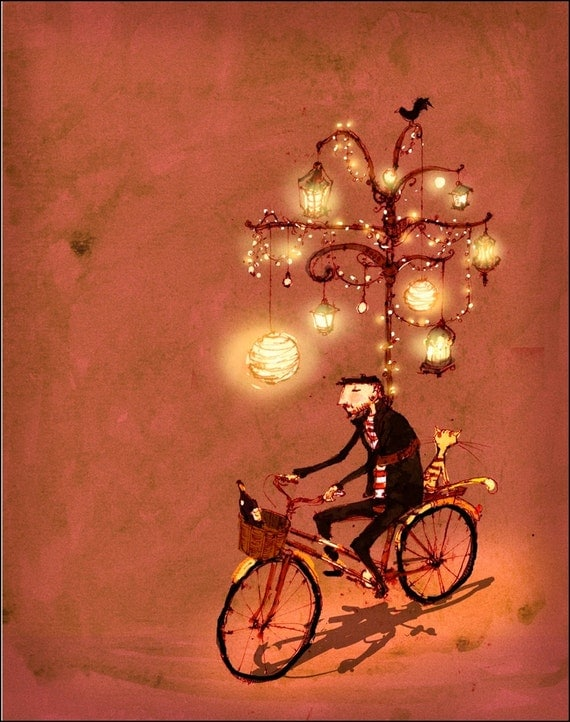 Bicycle Art Bicycle Wall Art Bicyle Art Print Bike Art Print