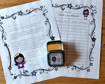 Personalized Tooth Fairy Box, Tooth Fairy Pillow Box, Lost Tooth Storage, Lost Tooth Record, Tooth Fairy Letter, Tooth Fairy Set